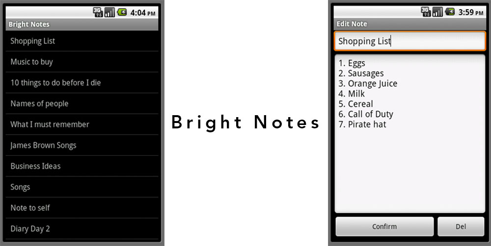 Google Android App in 4 Hours - Bright Notes -