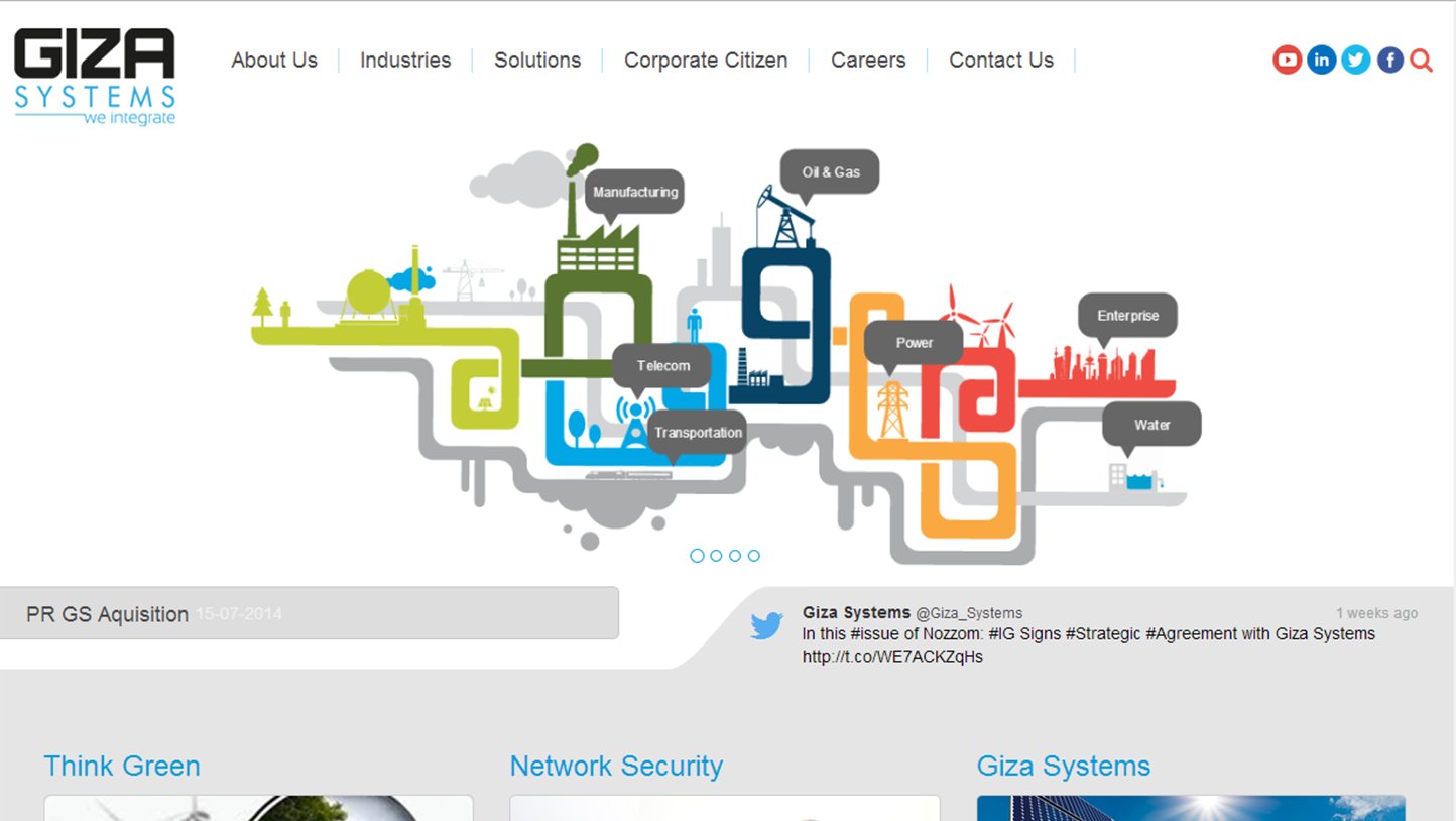 Giza Systems Website - Web Projects in Egypt & Dubai